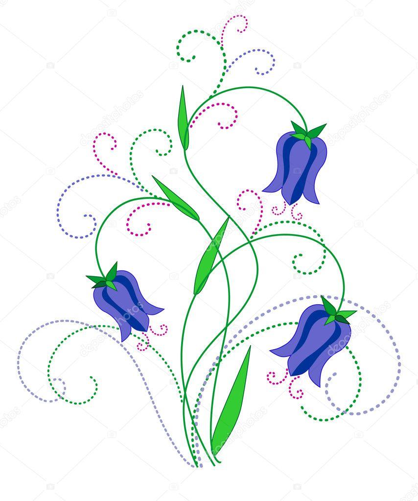 风铃的春天的花朵设计边框背景