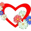 Royalty-Free Stock Vector Image: Heart with flowers.