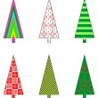 Royalty-Free Stock Vector Image: Christmas tree icons.