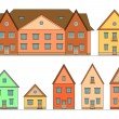 Houses set. — Stock Vector