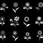 Flowers set, design elements. — Stock Vector