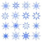 Symbolic snowflakes. Vector. — Stock Vector #1448328