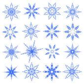 Symbolic snowflakes. Vector. — Stock Vector
