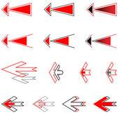 Arrows set. Design elements. — Stockvektor