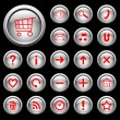 Royalty-Free Stock Imagen vectorial: Glossy buttons with symbols.