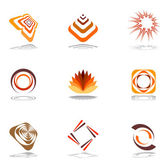 Design elements in warm colors. — Stock Vector