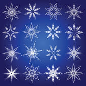 Symbolic snowflakes. — Stock Vector