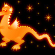 Glowing Dragon — Stock Photo