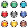 Royalty-Free Stock Vector Image: Round buttons set.