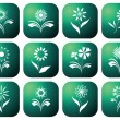Eco green icons. — Stock Vector