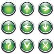 Royalty-Free Stock Vector Image: Green buttons with signs.