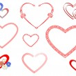 Royalty-Free Stock Vector Image: Hearts set.