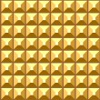 Vector de stock : Seamless relief golden pattern.