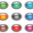 Oval color buttons. — Stock Vector