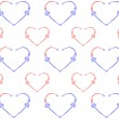 Royalty-Free Stock Vector Image: Seamless pattern with hearts.