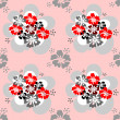 Seamless pattern with flowers design. — Stockvektor