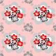 Seamless pattern with flowers design. — Stock vektor