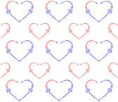 Seamless pattern with hearts. — Stock Vector