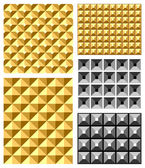 Seamless relief patterns. — 图库矢量图片