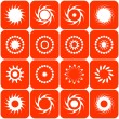 Royalty-Free Stock Vector Image: Abstract sun icons. Vector.