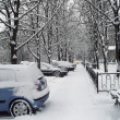 Stock Photo: Urbscene after snowfall.