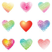 Hearts for valentine's cards. — Stock Vector