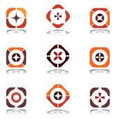 Design elements in warm colors. Set 6. — Stock Vector