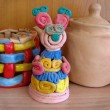 Stock Photo: Child's ceramic handicrafts. Mouse.