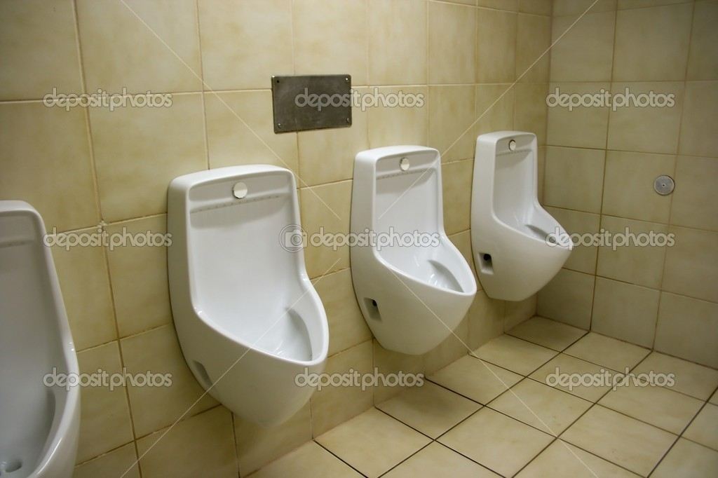 Urinals in a public toilette  Stock Photo #1336450
