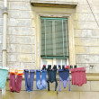 Clothesline In Rome, Italy - Stock Photo