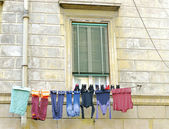 Clothesline In Rome, Italy — Stock Photo