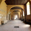 Corridor Of Medieval Abbey — Stock Photo