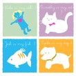 Royalty-Free Stock Imagem Vetorial: My doll cat dog and fish