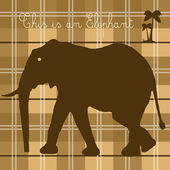 Elephant on cappuccino background — Stockvector