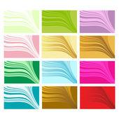Frisch farbige visitenkarten — Stockvektor