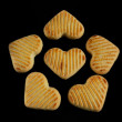 Close-up of cookies on black background — Stock Photo
