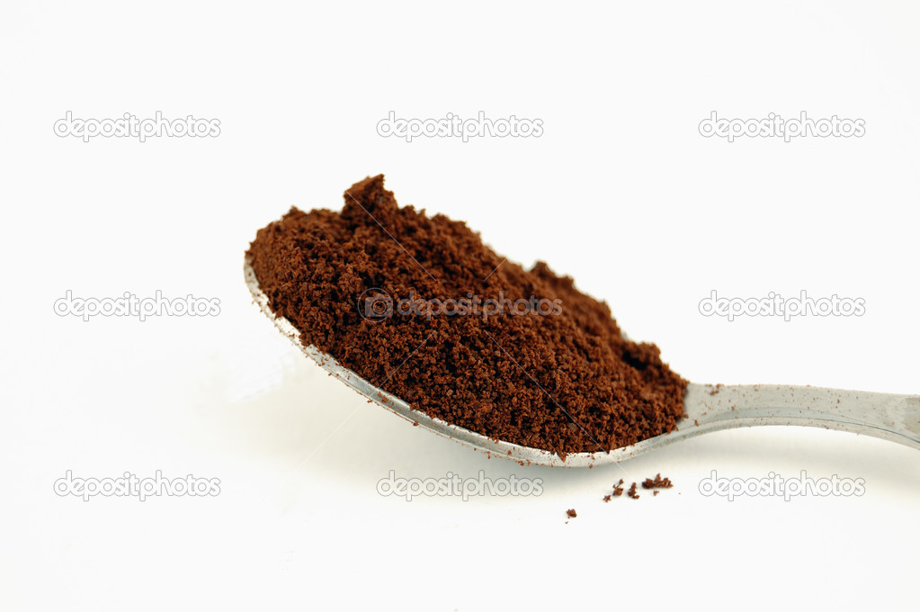 Close-up of spoon full of coffee powder  Stock Photo #1341015