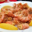 Fried shrimps closeup — Stock Photo