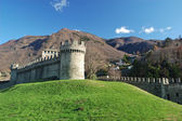 Montebello castle, Bellinzona — Stock Photo