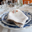 Stock Photo: Table setting, napkin