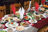 Russian feast — Stock Photo