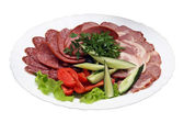 Meat plate — Stock Photo