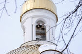 Small bells on a belfry — Stock Photo