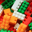 Stock Photo: Lego background - black and white