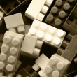 Lego background - black and white — Stock Photo