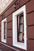 Two beautiful windows in the evening — Stock Photo