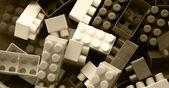 Lego background - black and white — Stock Photo