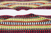 Andean tapestry with white strip — Stock Photo