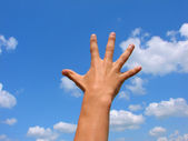 Hand towards sky — Stock Photo