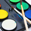 Water-colors,paintbrush on white backgro — Stock Photo #1852102